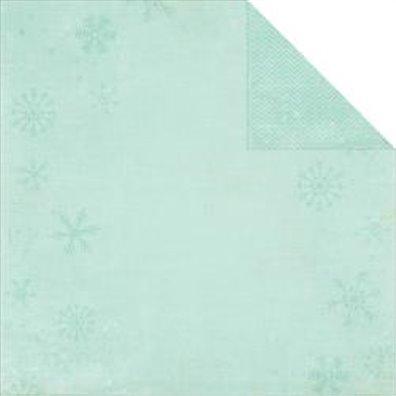 Simple Stories December Documented mønsterpapir - Blue Snowflake