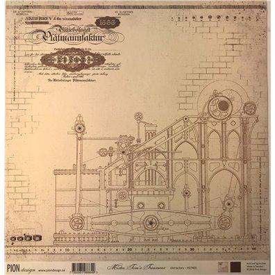 Mister Tom's Treasures – Old Factory mønsterpapir fra Pion Design