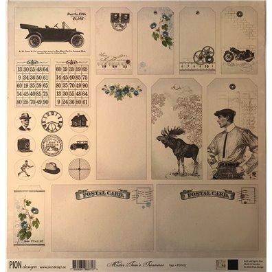 Mister Tom's Treasures – Tags mønsterpapir fra Pion Design