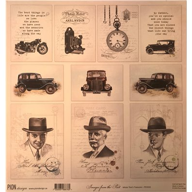 Mister Tom's Treasures – Images from the past mønsterpapir fra Pion Design