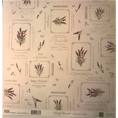 Scent of Lavender – French Country mønsterpapir fra Pion Design
