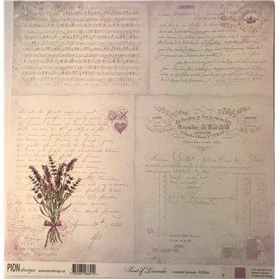 Scent of Lavender – Lavender Bouquet mønsterpapir fra Pion Design