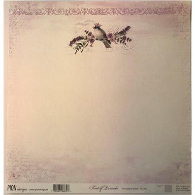 Scent of Lavender – The song of a bird mønsterpapir fra Pion Design