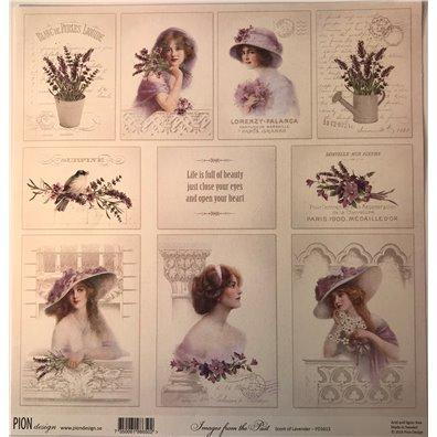 Scent of Lavender – Images from the past mønsterpapir fra Pion Design