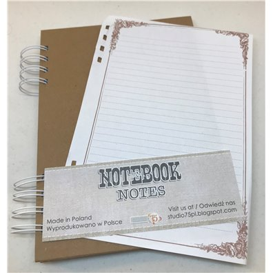 Chipboard Notebook - Linieret