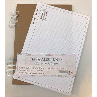 Chipboard Notebook - Opskrifter