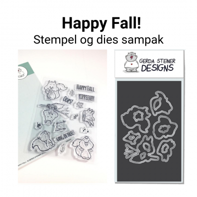 Gerda Steiner Designs Happy Fall! stempel og dies sampak