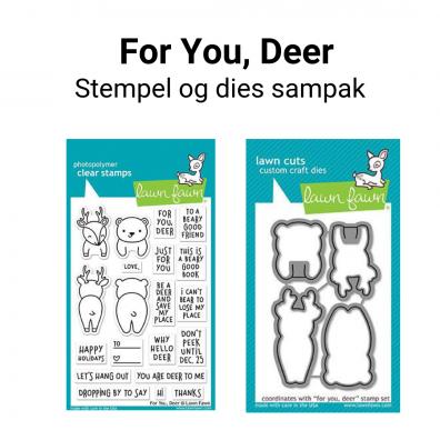 Lawn Fawn For You, Deer stempel og dies sampak