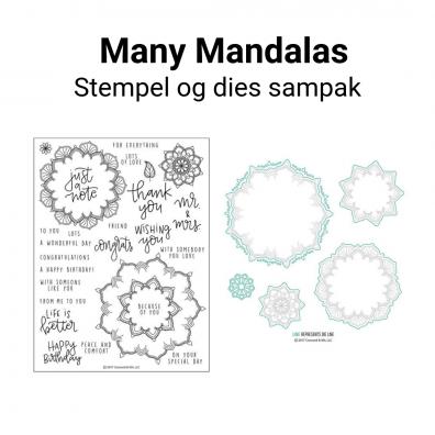 Concord & 9th Many Mandalas stempel og dies sampak
