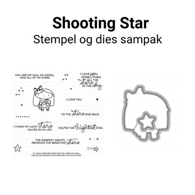 Mama Elephant Shooting Star stempel og dies sampak