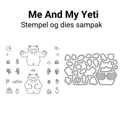 Mama Elephant Me And My Yeti stempel og dies sampak