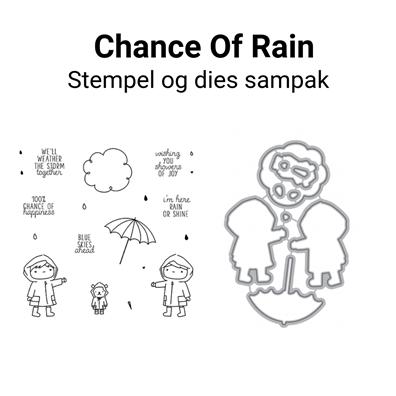 Mama Elephant Chance Of Rain stempel og dies sampak