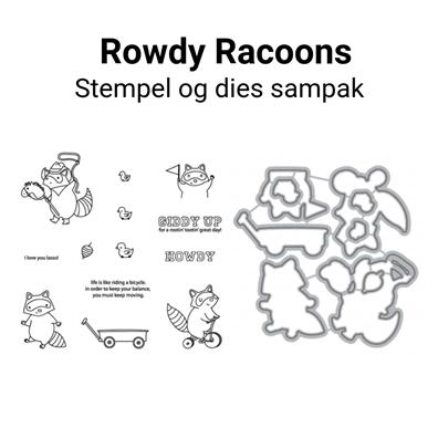 Mama Elephant Rowdy Raccoons stempel og dies sampak