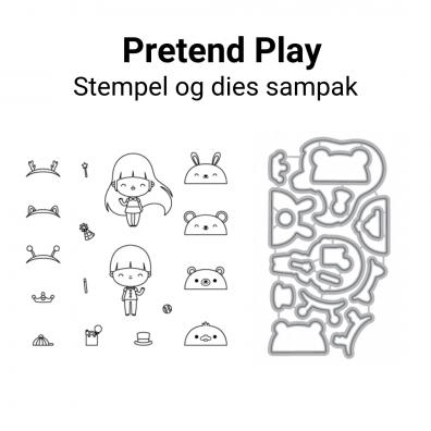 Mama Elephant Pretend Play stempel og dies sampak