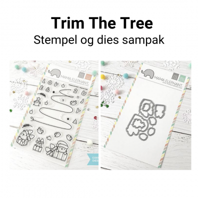 Mama Elephant Trim The Tree stempel og dies sampak