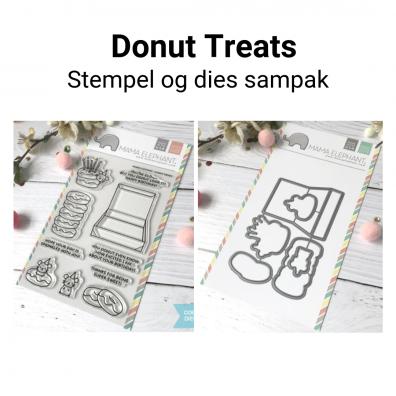 Mama Elephant Donut Treats stempel og dies sampak
