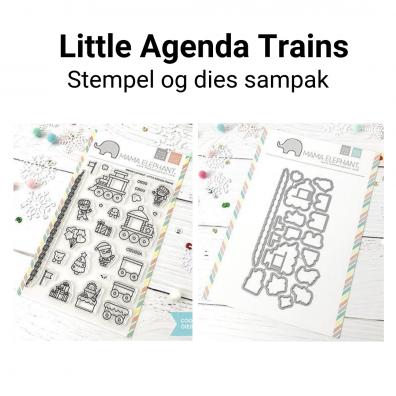 Mama Elephant Little Agenda Trains stempel og dies sampak