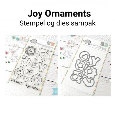 Mama Elephant Joy Ornaments stempel og dies sampak