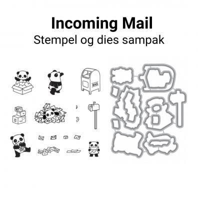 Mama Elephant Incoming Mail stempel og dies sampak