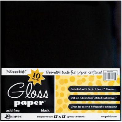 """Ranger - Glossy Cardstock - Gloss Paper 12"""" x 12"""" White"""
