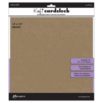 "Ranger - Inkssentials - 12"" x 12"" Cardstock Pack - Kraft"
