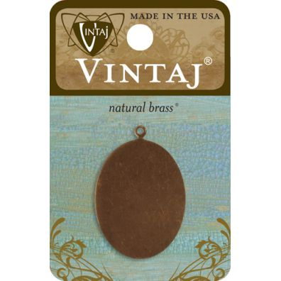 Vintaj - Natural Brass - Oval