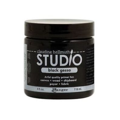 Dina Wakley Media - Black Gesso - 4oz