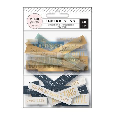 Indigo and Ivy Ephemera Die cuts - Phrases - Forudbestilling