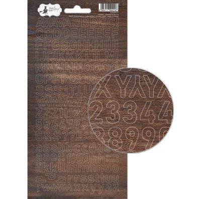 Add on Januar kit - American Crafts Glitter Alpha - Silver