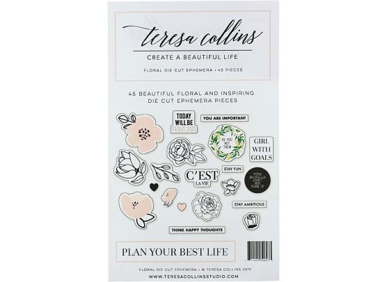 Positivity - Create A Beautiful Life - Die cuts fra Teresa Collins