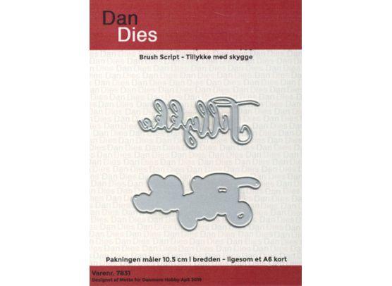 Dan Dies - Brush Script - Tillykke med skygge