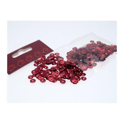 Palietter Rød 6mm - ca. 500 stk.