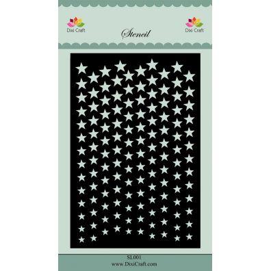 Dixi Craft Stencil - Stars