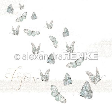 Butterfly - Mønsterpapir fra Alexandra Renke