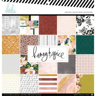 Heidi Swapp Honey & Spice Paper Pad 12x12