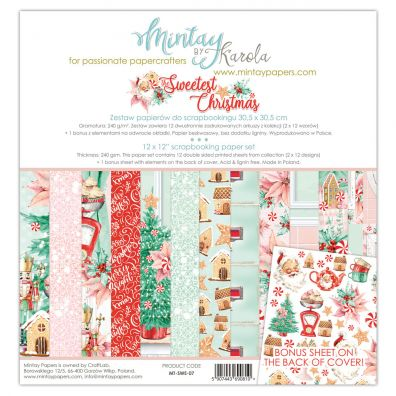 Mintay By Karola - The Sweetest Christmas 12x12 Paper Pad