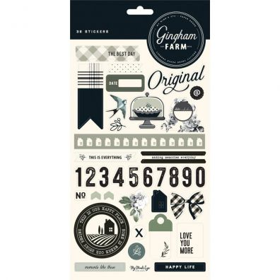 Gingham Farm Stickers fra My Minds Eye
