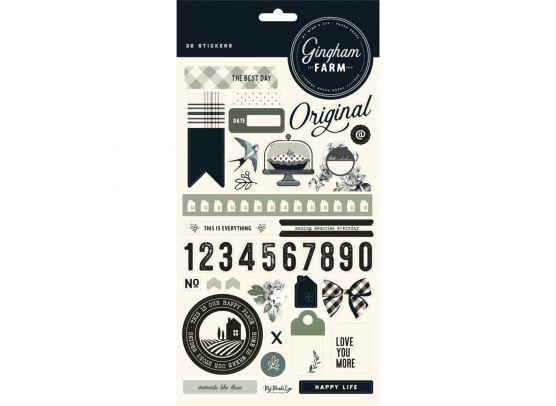 Gingham Farm Stickers fra My Minds Eye
