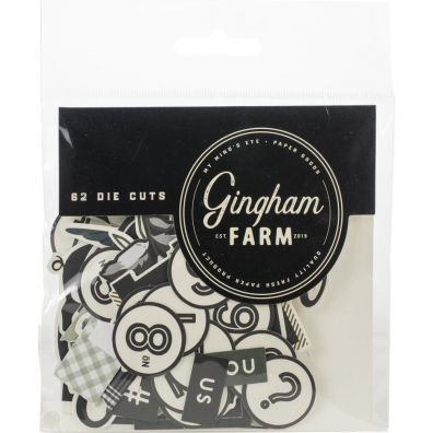 Gingham Farm Die Cuts - 62 stk - fra My Minds Eye