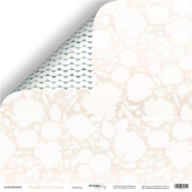 Peach & Cream 02 Mønsterpapir fra Scrapmir