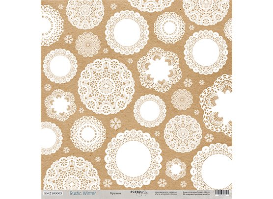 Rustic Winter 03 Mønsterpapir fra Scrapmir