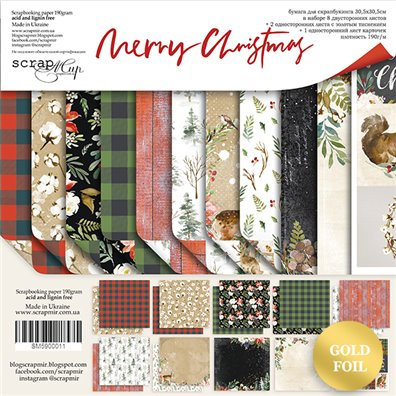 Scrapmir 12x12 Collection Kit - Merry Christmas