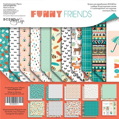 Scrapmir 12x12 Collection Kit - Funny Friends