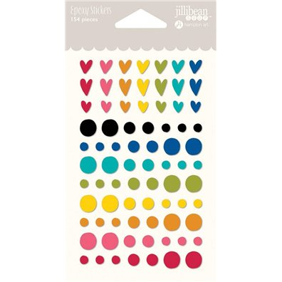 Add on Maj - Jillibean Soup Rainbow Epoxy Stickers