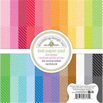Add on Maj - Doodlebug Design Rainbow petite prints 6x6 Paper Pad