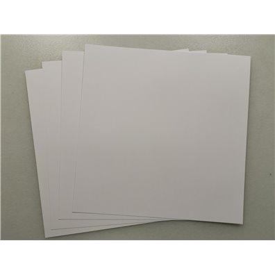 Add on Maj - 4 ark 12 x 12 smooth hvidt karton