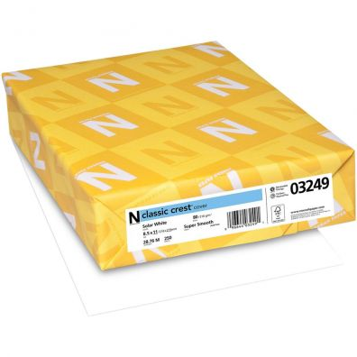 Neenah Classic Crest - 110lb - Solar White - 125 ark