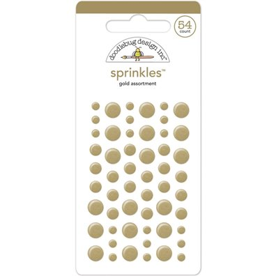 Add on Juni - Doodlebug Sprinkles Gold Dots