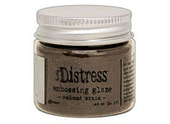 Add on Juni - Distress Embossing Glaze - Walut Stain