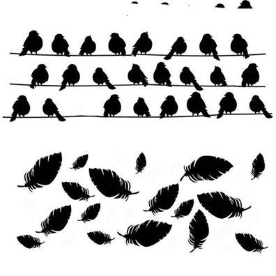 Add on Juni - Stencil Birds - 13 Arts
